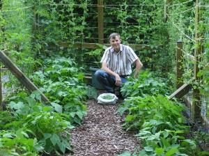 Wes in garden