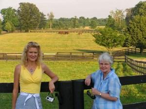 Rachelle & Jeanie at horse farm