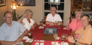 One of our enjoyable canasta parties.