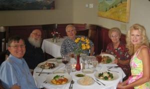 The group enjoying dinner at Jordan Street.