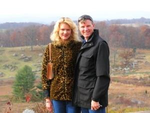 Wes & rachelle at Gettysburg.