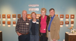 Mark, Cindy, Rachelle and Wes at the Plantation Wildlife Art Show.
