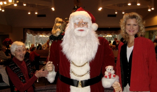 We attended a Christmas party with Wes's Nana – she loves parties!