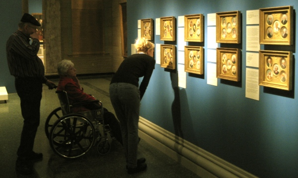 Viewing the miniature paintings of John Trumball on display in the Speed Art Museum in Louisville, KY with Wes's parents, George and Jean Siegrist.