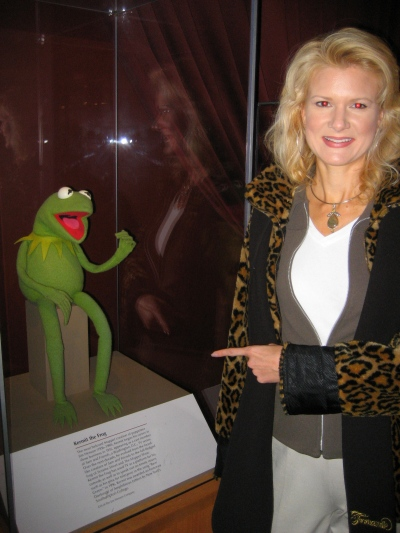 Rachelle with one of her life long heros, Kermit the Frog.