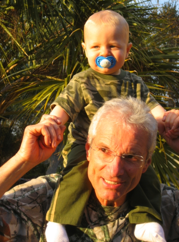 My dad, Larry and grandson Tyler.