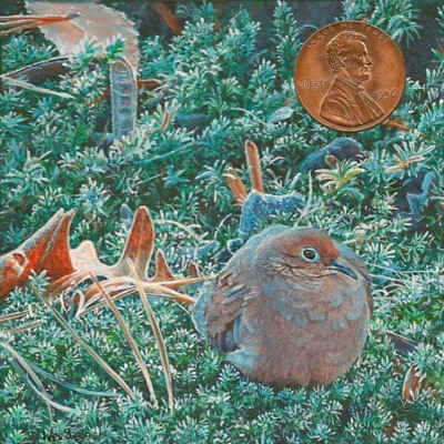 """""""Frosty Morning"""" by Wes, measures 3x3 inches."""