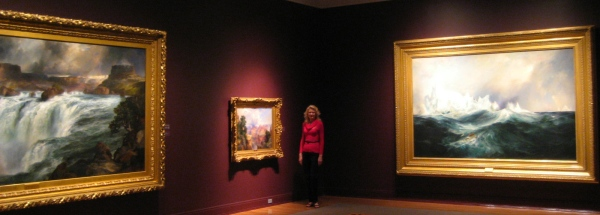 Me in my favorite room at the Gilcease Art Museum.