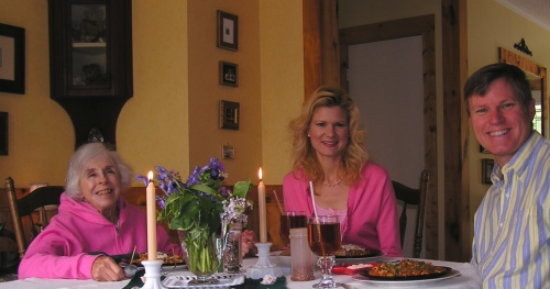 A wonderful luncheon with dear friend, Tricia.