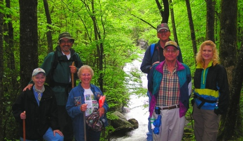 A group of our neighbors that enjoyed a hike this past week along the Middle Prong trail.