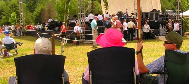 This is how close we were able to enjoy the music in Cades Cove for the 75th Anniversary concert.