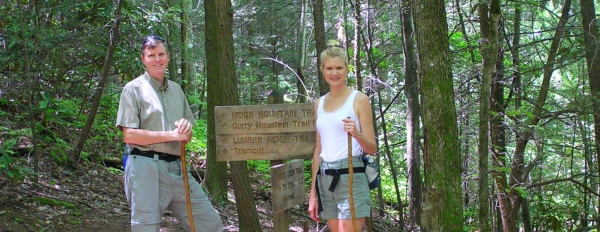Wes and I on the Lumberridge Trail in the Smokies.