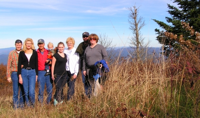 My family feeling on top of the world on Huckleberry Blad.