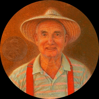 """""""Grandpa Jackson"""" by Rachelle, measures 2 3/4 inches."""