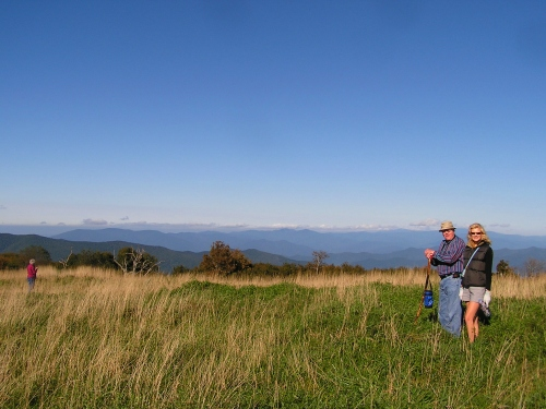 Jeanie, George and I on top of Huckleberry Bald.