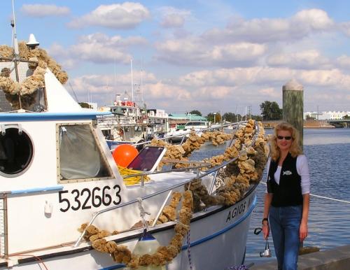 Me at the Sponge Docks in Tarpon Springs, FL.