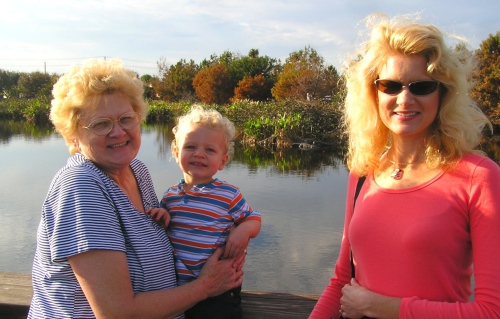 My Mom, Tyler and me at the beautiful Wakodathachee
