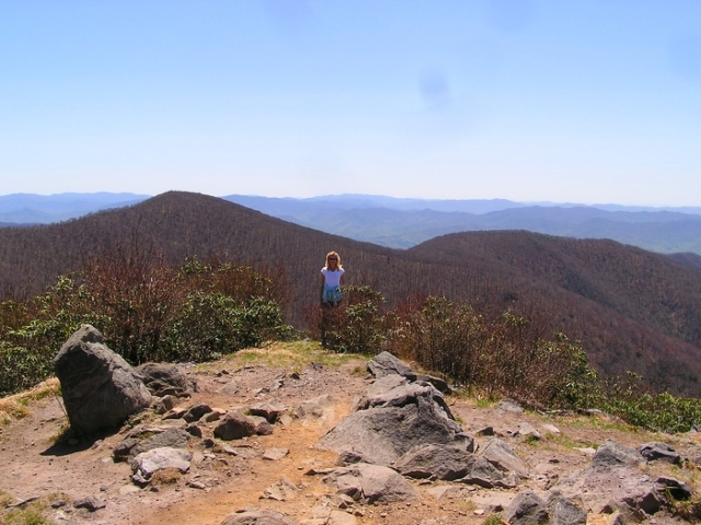 Me feeling on top of the world on Rocky Top.