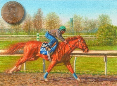 horse painting miniature