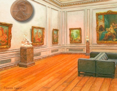 miniature painting of interior