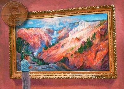 """Admiring the Moran"" miniature painting"
