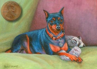 miniature dog portrait painting