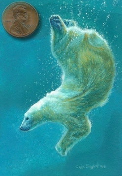 """Polar Plunge"" by Wes is 3½ x 2½ inches"