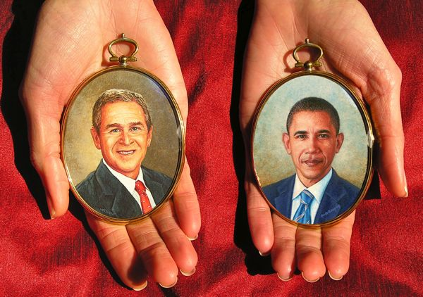 Portrait miniatures of the American Presidents