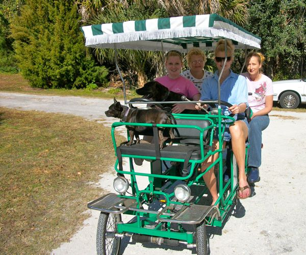 a four person bicylcle