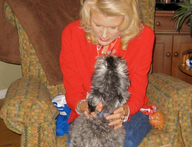 petting sweet Zeus