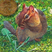 chipmunk painting miniature