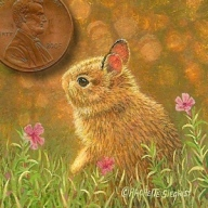 bunny painting miniature