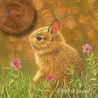 bunny painting miniature