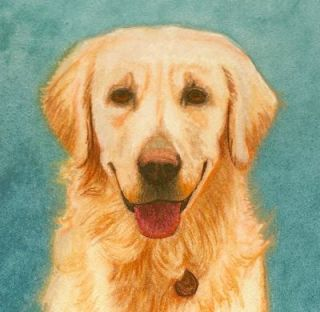 dog portrait painting mniature