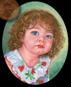 child portrait miniature painting