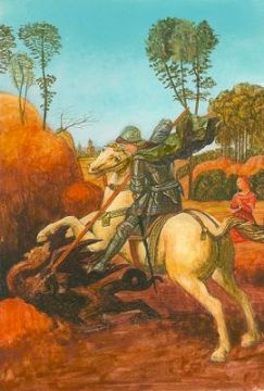 "miniature painting of Raphael's ""St. George and the Dragon"""
