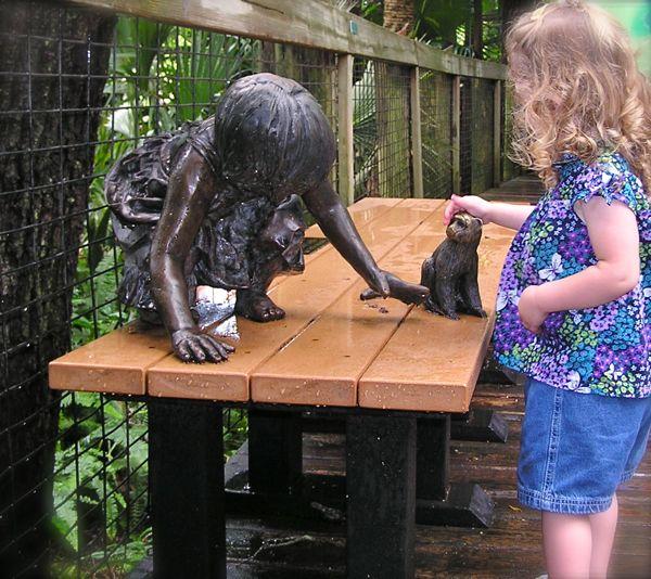a monkey sculpture