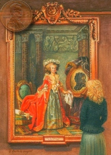 miniature painting of the Portrait of madame adelaide of france