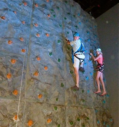 photo of rock climbing wall at wonderworks