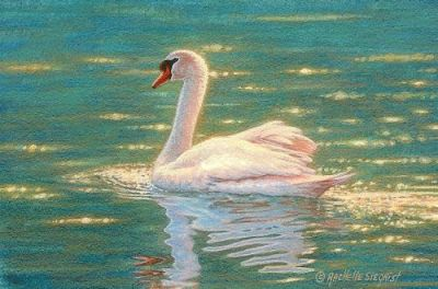 miniature swan painting