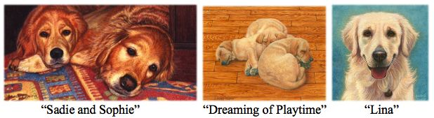 commissioned pet portrait paintings