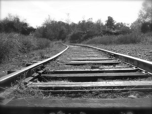 photo of a railroad track