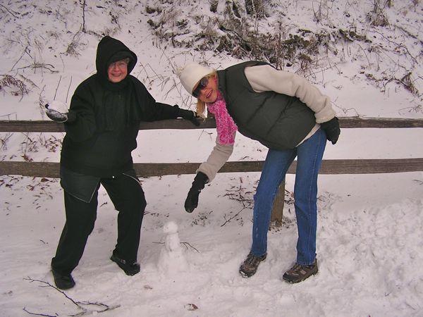 rachelle siegrist in the snow