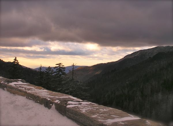 photo from newfound gap in the smokies