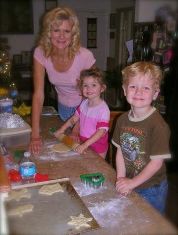 Rachelle siegrist making christmas cookies