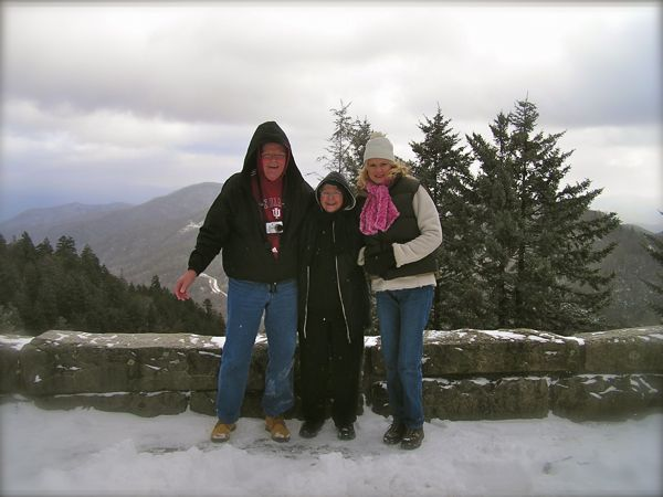 photo of snow in the smoky mountains