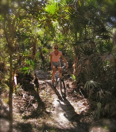photo of grassy island trail