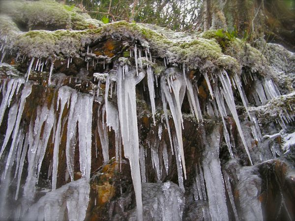 photo of icicles in the smokies