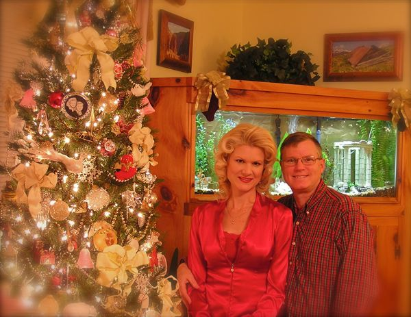 Wes and Rachelle Siegrist by their Christmas tree