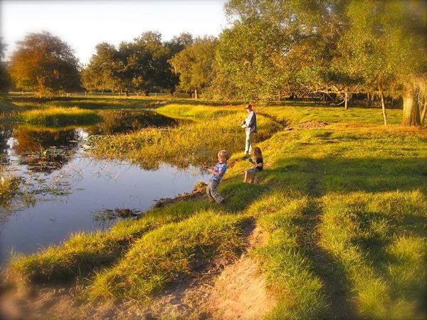 photo of child fishing